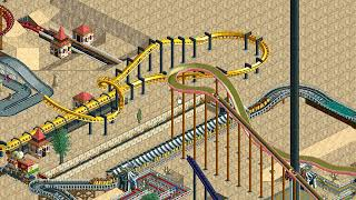 Rollercoaster Tycoon Loopy Landscapes #150 (Dusty Desert: Another Heart)