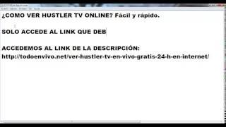 Ver Hustler TV online gratis en directo las 24 h en internet