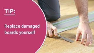 Repair damaged boards yourself – instructions: replacing parquet, laminate and design floor boards
