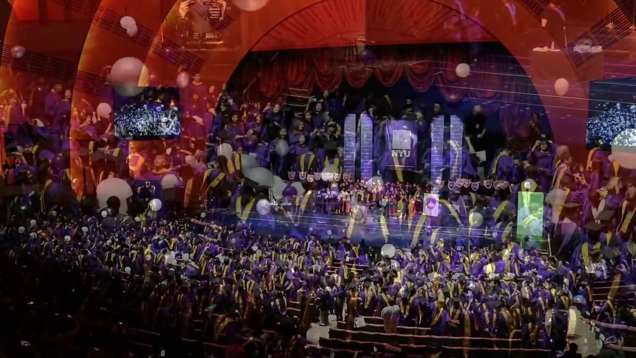 2016 - NYU Graduation Ceremony at Radio City Music Hall
