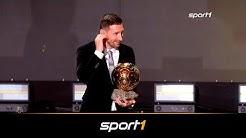Rekord! Messi gewinnt zum sechsten Mal den Ballon d'Or | SPORT1