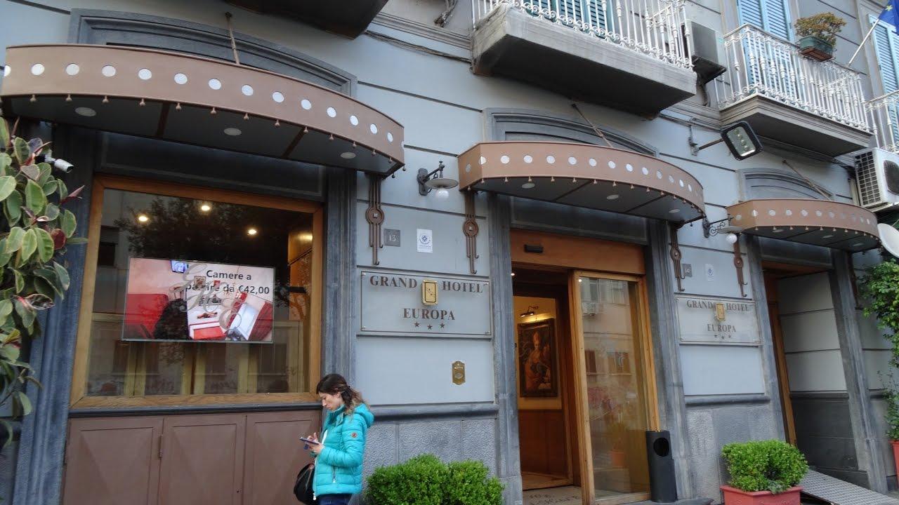 Italy Naples A Look Around The Grand Hotel Europa Napoli
