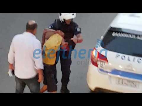 Βίντεο ντοκουμέντο στο ΜΟΔ Κυπαρισσίας: Τραυματισμένος αστυνομικός συνέλαβε τον κακοποιό
