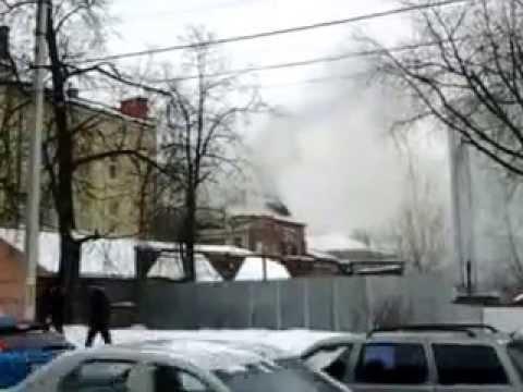 Пожар в Иваново банк ВТБ. 26 января 2015