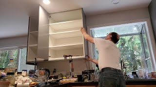 Under cabinet IKEA trim and side panel. Кухня IKEA, установка боковых панелей