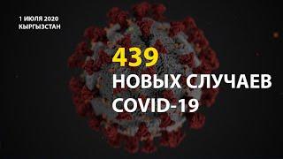 В Кыргызстане на 1 июля выявлено 439 новых случаев COVID 19