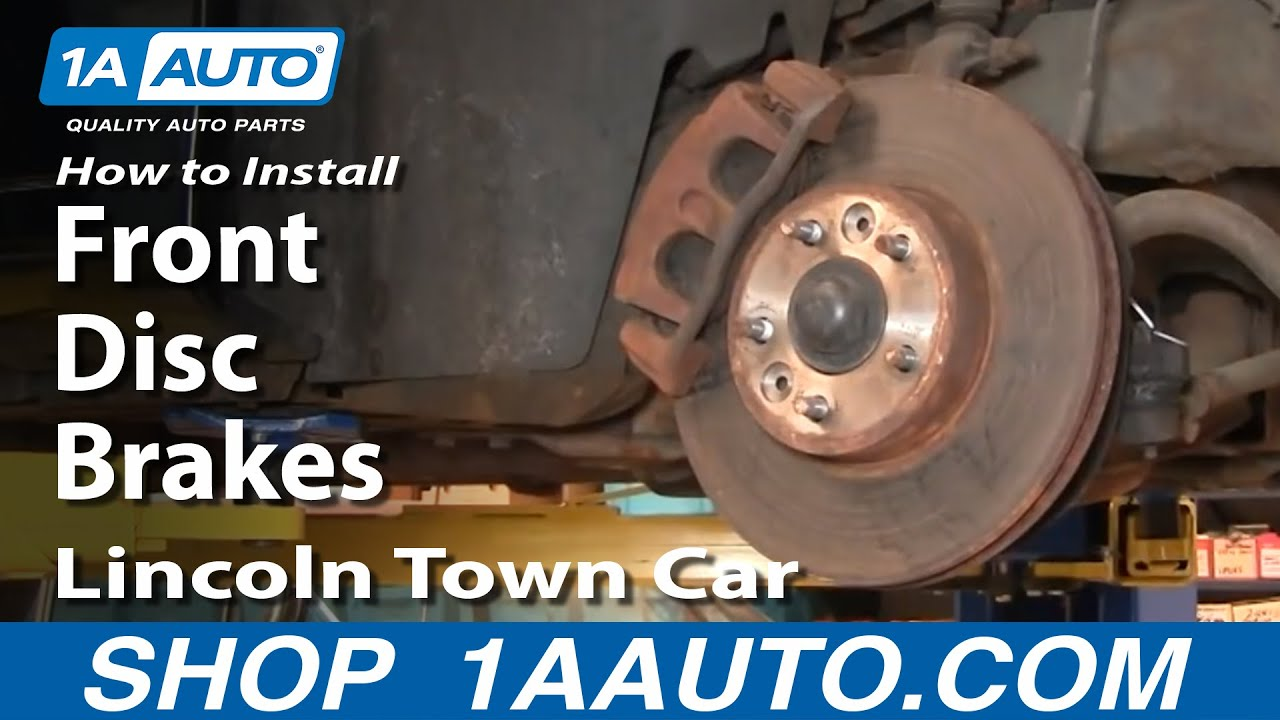 How to install repair replace front disc brakes on lincoln for Crown motors service center