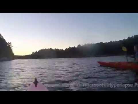 Kayaking in Blindleia, Norway