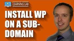 Install WordPress on a subdomain of an existing WP site - WordPress Subdomain   WP Learning Lab