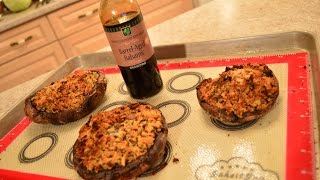 How To Bake Napa Valley Stuffed Portabello Mushrooms With Balsamic:  Cooking With Kimberly