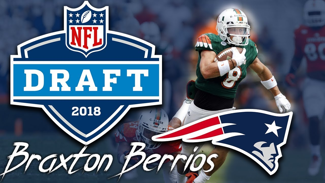 best sneakers b521d 307a1 Patriots Draft WR Braxton Berrios | 6th round | pick 210 | 2018