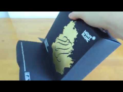 Unboxing Montblanc Meisterstuck Calligraphy , Flexible Nib Special Edition