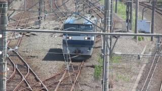 貨物列車到着「貨物列車210ー107発車」