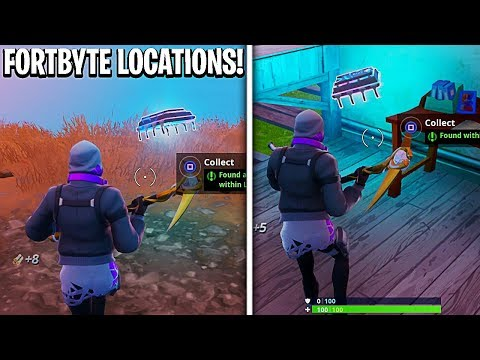 New Fortbyte Locations in Fortnite! All Hidden Fortbyte Locations! (Fatal Fields Fortbyte Location)