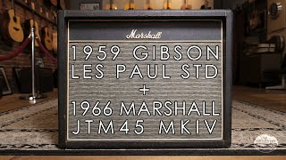 """Pick of the Day"" - 1959 Gibson Les Paul and 1966 Marshall JTM45 MKIV"