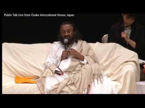 Sri Sri Ravi Shankar । Public Talk Live from Osaka International House, Japan