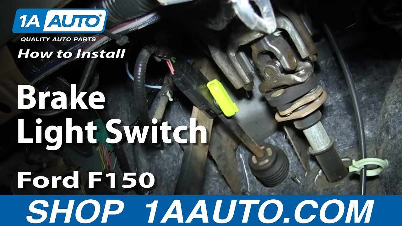 How To Install Replace Brake Light Switch 2004 08 Ford F150 And More 1981 F 150 Headlight Wiring Diagram Vehicles Youtube