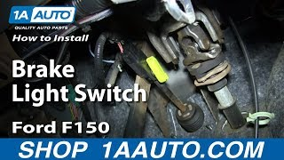 How To install Replace Brake Light Switch 2004-08 Ford F150 and more vehicles