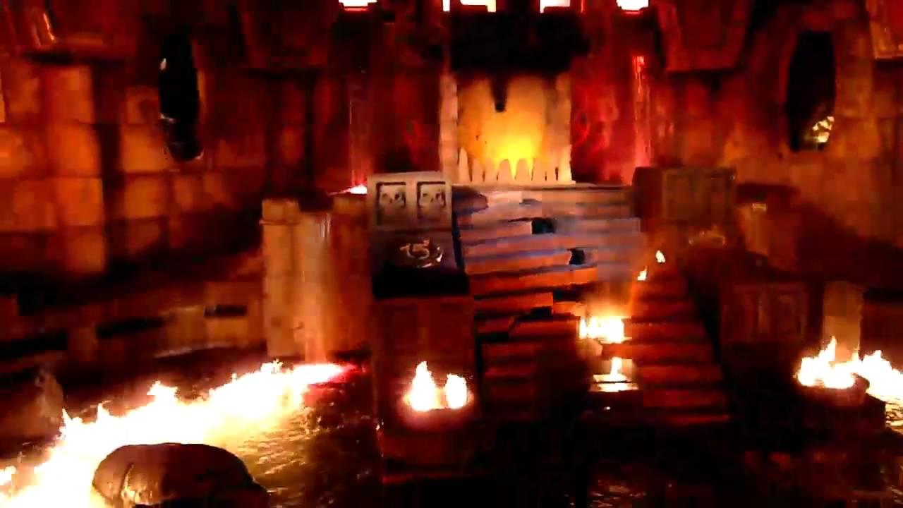 Port Aventura Templo Del Fuego Con Gatillazo Youtube