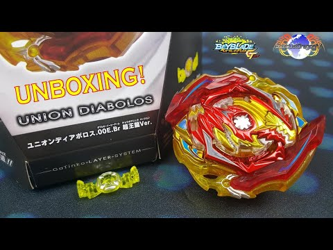 B-00 UNION DIABOLOS UNBOXING! BEYBLADE BURST GT! FRANCE