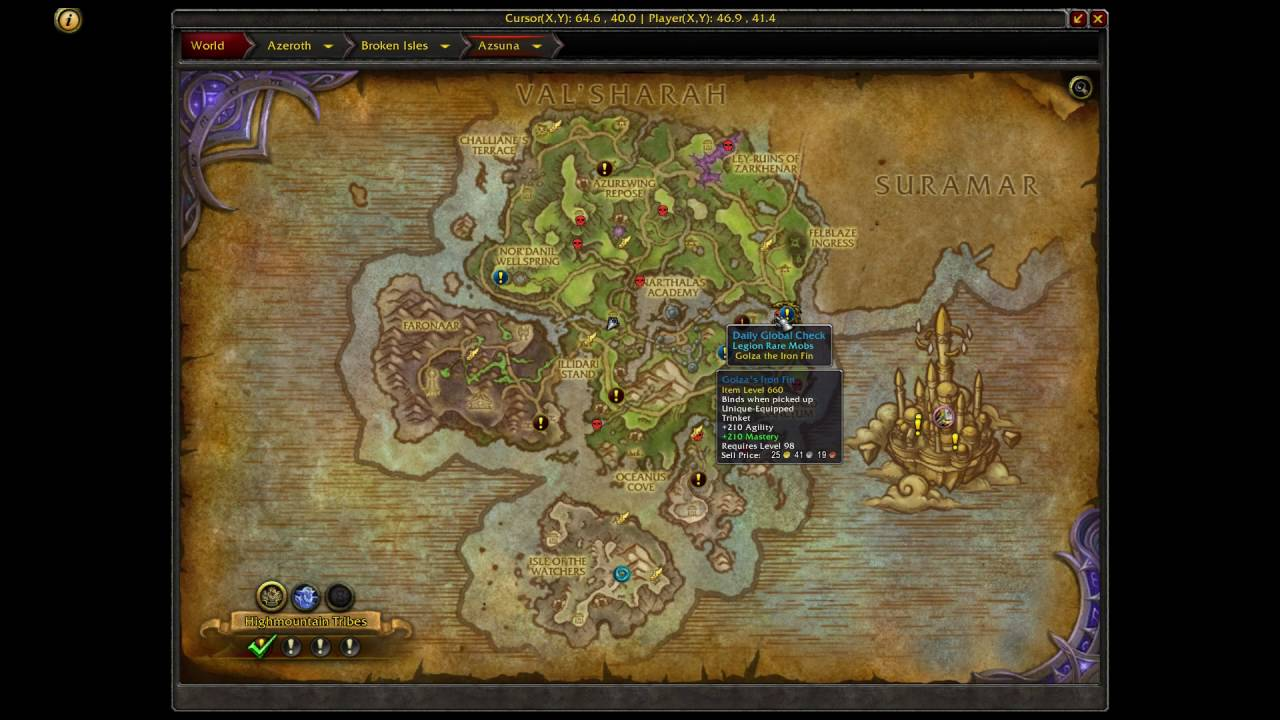 Where is Court of Farondis Emissary WoW - YouTube