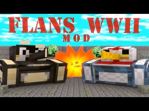 World at War Mod: Minecraft Flans World War II Mod Showcase!