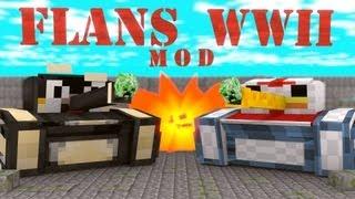 World at War Mod: Minecraft Flans World War II Mod Showcase!