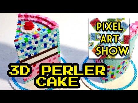 3D Perler Bead Cake Tutorial - Pixel Art Show