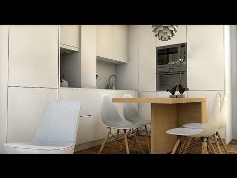 Dise o interior piso 16 m2 doovi for Casa moderna minimalista interior 6m x 12 50m