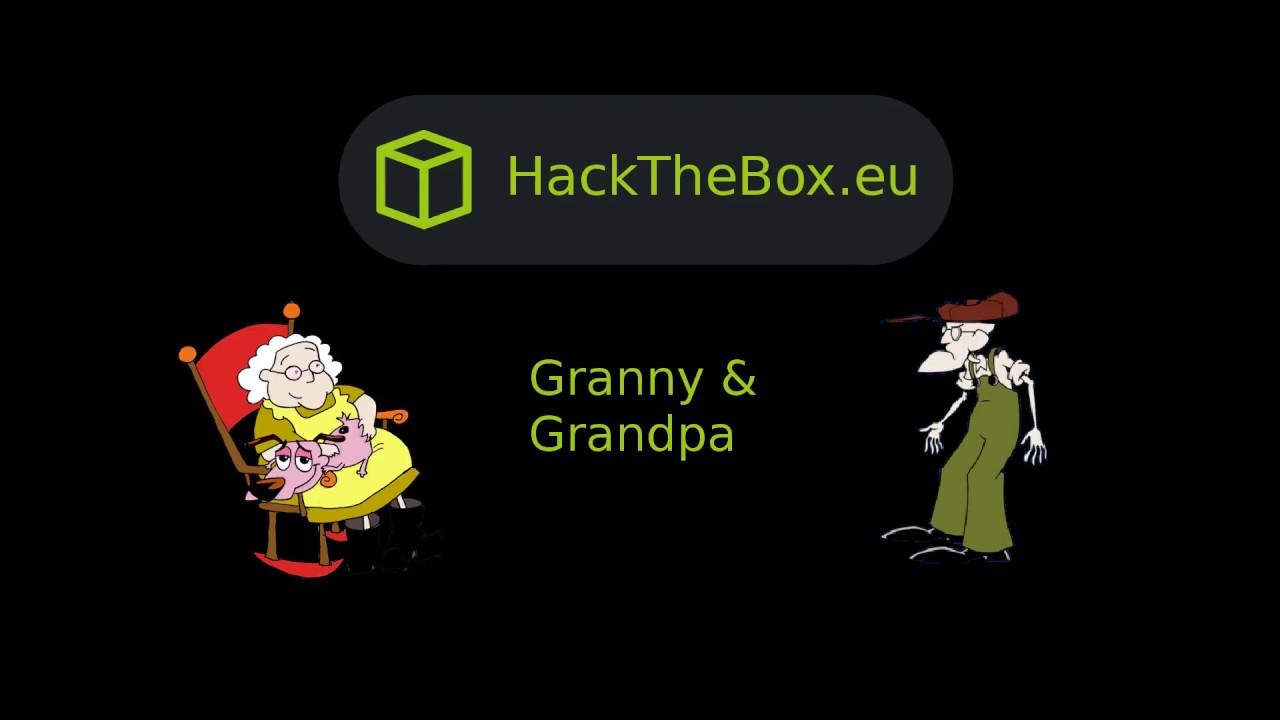 HackTheBox - Granny and Grandpa