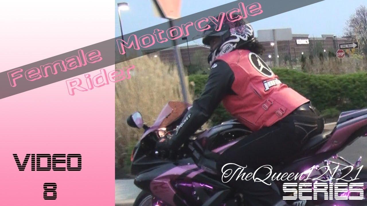 Motorcycle gloves gsxr - Female Sportbike Motorcycle Rider On Custom Gsx R 750 Part 2 Youtube