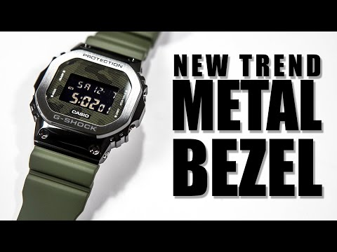 NEW TREN METAL BEZEL - CASIO G-SHOCK GM-5600B-3 REVIEW