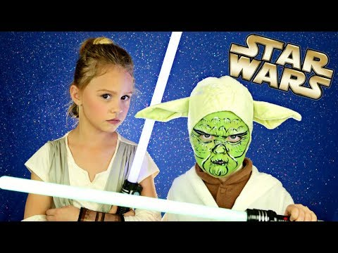 Star Wars The Last Jedi Rey and Yoda Makeup, Hair and Costumes