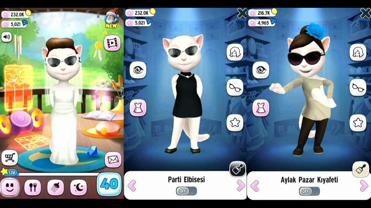 My Talking Angela Dress Up 5 GamePlay Trailer YouTube