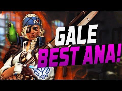 GALE BEST ANA! 300+ HOURS! [ OVERWATCH SEASON 7 TOP 500 ]