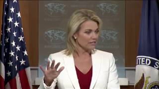 US State Department IMPORTANT Press Briefing on North Korea Threat, North Korea with Heather Nauert