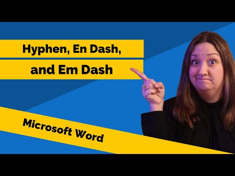 Hyphens, En Dashes, And Em Dashes In Microsoft Word