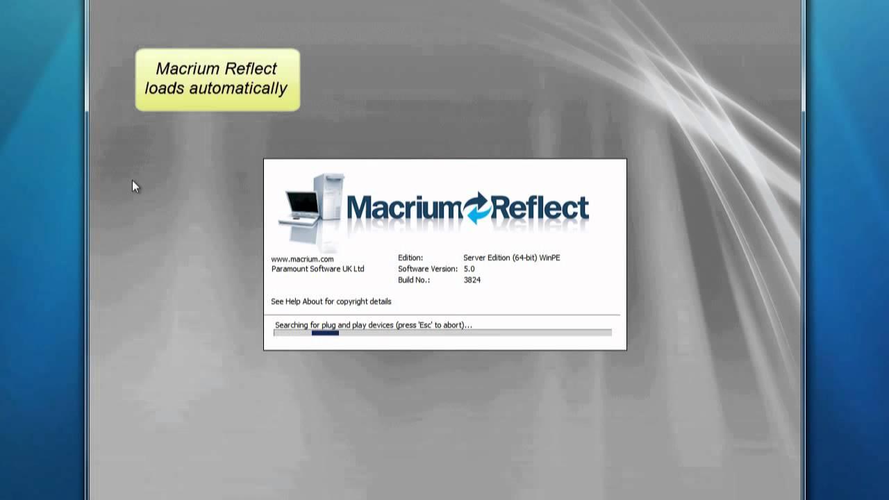 Restore an image using Windows PE in Macrium Reflect v5
