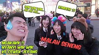 NYANYI WIK WIK DAN TERIAK K1M0CH1 KE CEWEK JEPANG,- PRANK INDONESIA