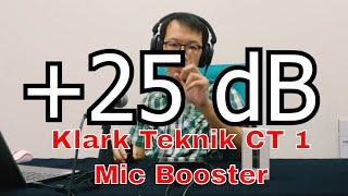Klark Teknik CT 1 - Bring life to your audio of your beloved mic with this mic booster