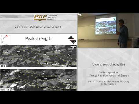Lecture - Slow pseudotachylites