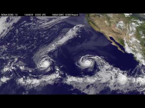 Satellite Tracks Double Eastern Pacific Hurricanes