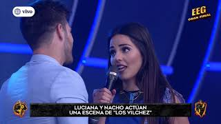 Luciana Fuster y Juan Ignacio Di Marco se besaron en escena de Los Vílchez