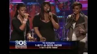 "Jazmine Sullivan , Chrisette Michelle, India Arie & Kirk Franklin "" Are You Listening"" Live"