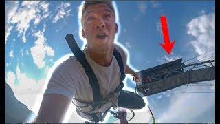 INCREDIBLE Bungee Jump Nepal! DRONE VIEWS!
