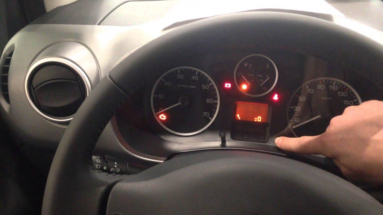 Peugeot Partner Reset Service Oil Light  YouTube