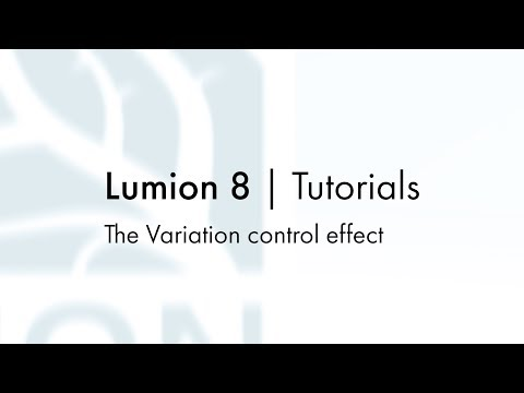 Effects: Scene and Animation - The Variation control effect
