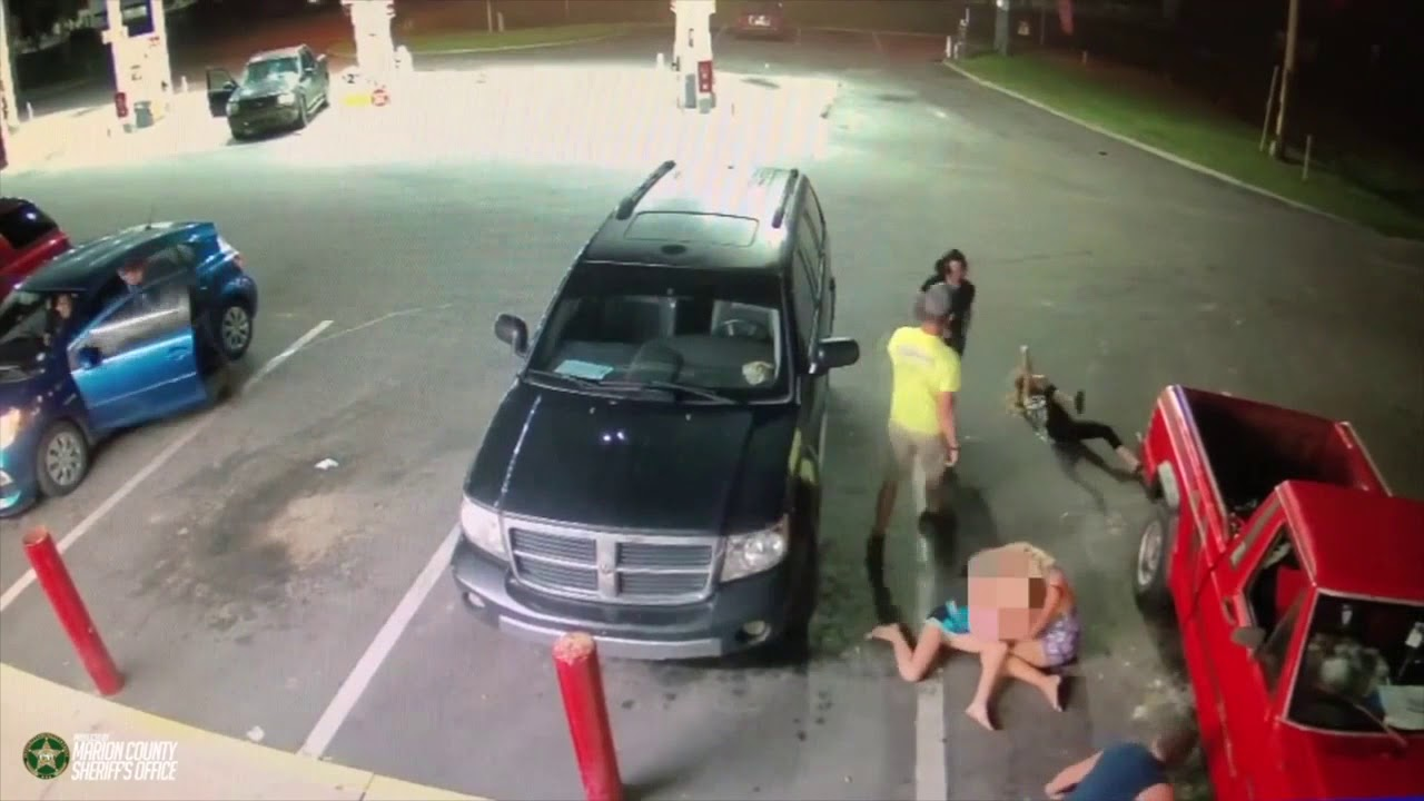 WATCH: Violent attack outside of Florida gas station caught on camera
