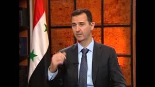 لقاء الرئيس الأسد مع قناة أولوصال وصحيفة أيدنليك التركيتين ج1