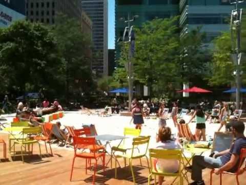 The Beach @ Campus Martius Park in Downtown Detroit